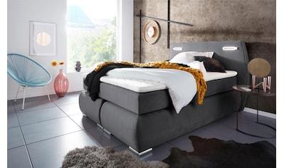 INOSIGN Boxspringbett »Black & White«, incl. LED Beleuchtung, bis zu 3 Härtegrade,... kaufen