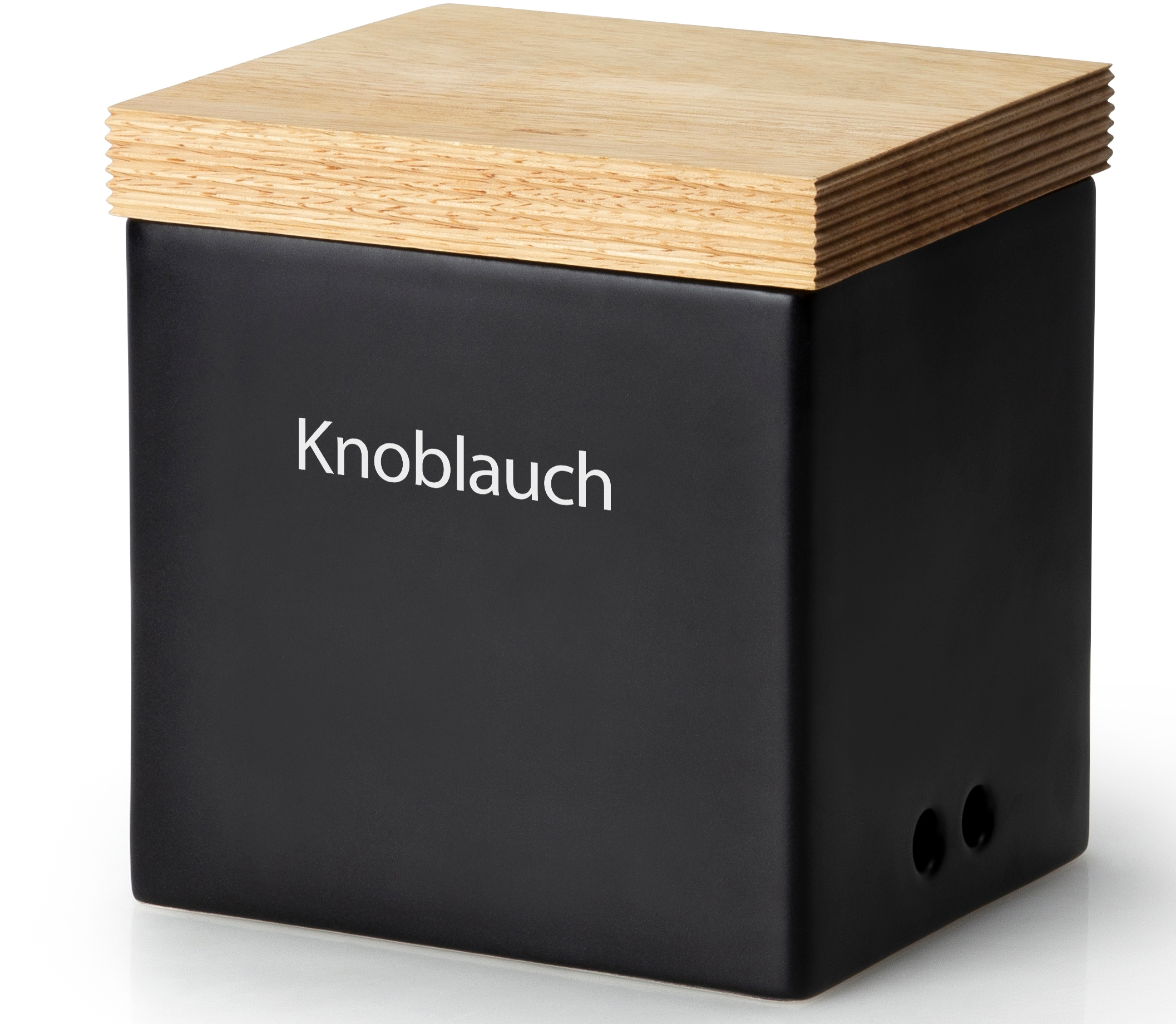 Continenta Vorratsdose, (1 tlg.), Knoblauchtopf schwarz Aufbewahrung Küchenhelfer Haushaltswaren Vorratsdose