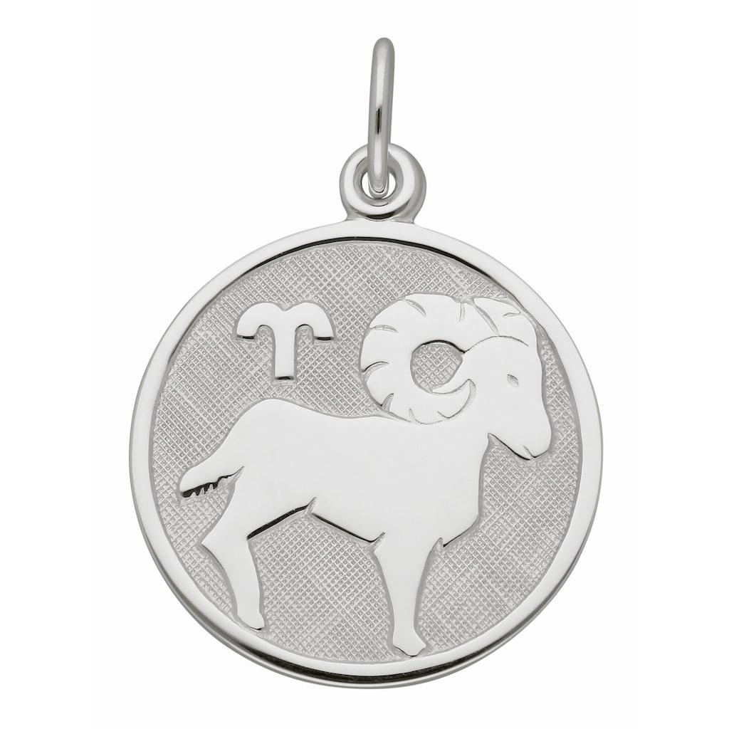 Adelia´s Kettenanhänger »925 Silber Sternzeichen Anhänger Widder Ø 15,7 mm«