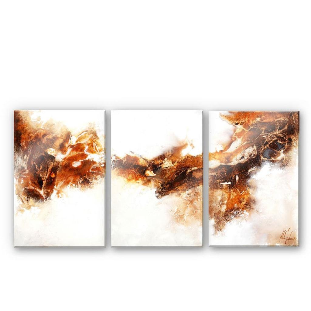 Wall-Art Mehrteilige Bilder »Flüssiges Gold (3-teilig)«, (Set, 3 St.)