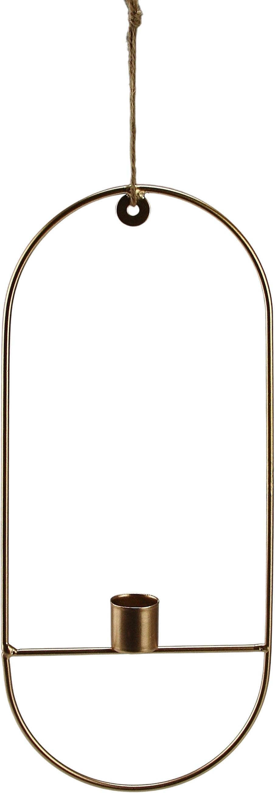 AM Design Kerzenhalter, aus Metall, Höhe ca. 31,5 cm goldfarben Kerzenhalter Kerzen Laternen Wohnaccessoires