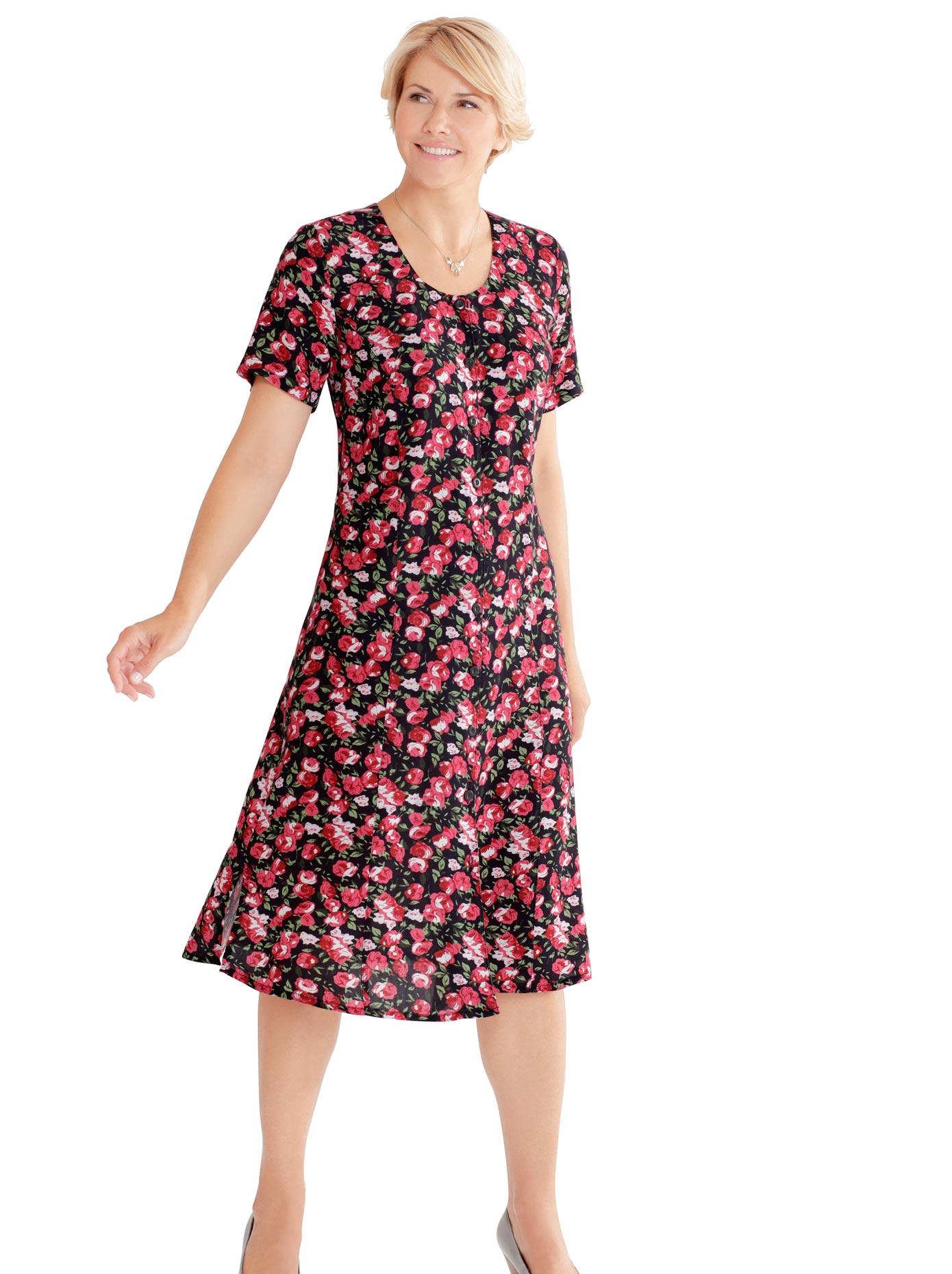 Classic Basics Kleid mit sommerlichem Blütendessin