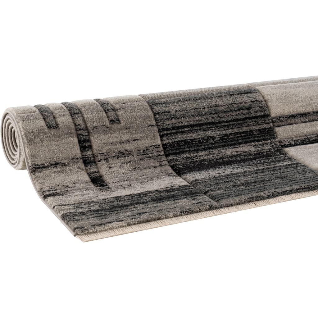 my home Teppich »Beliz«, rechteckig, 9 mm Höhe, mit Konturenschnitt, Wohnzimmer