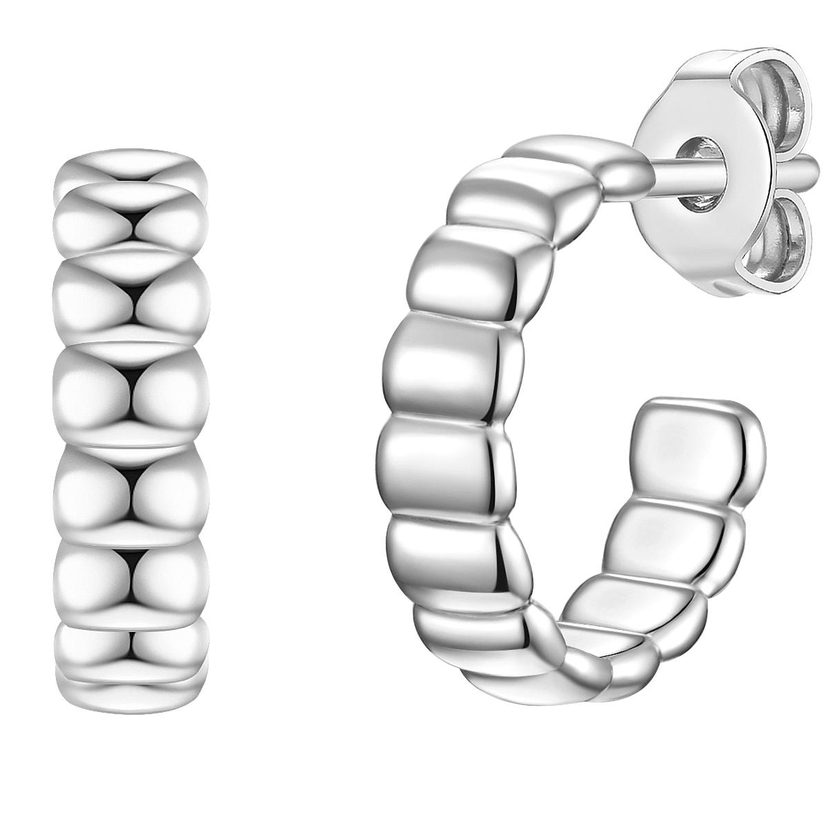 glanzstücke münchen -  Paar Creolen Set: GSM670, (2 tlg.), aus Sterling Silber