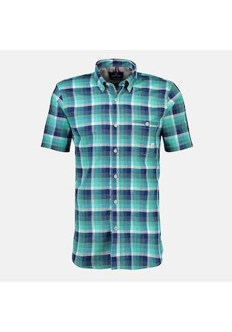 LERROS Karohemd »Cube Check«, mit Brusttasche und Button-Down-Kragen kaufen