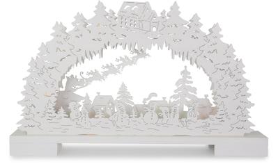 Schwibbogen »Schneemänner in verschneiter Landschaft« kaufen