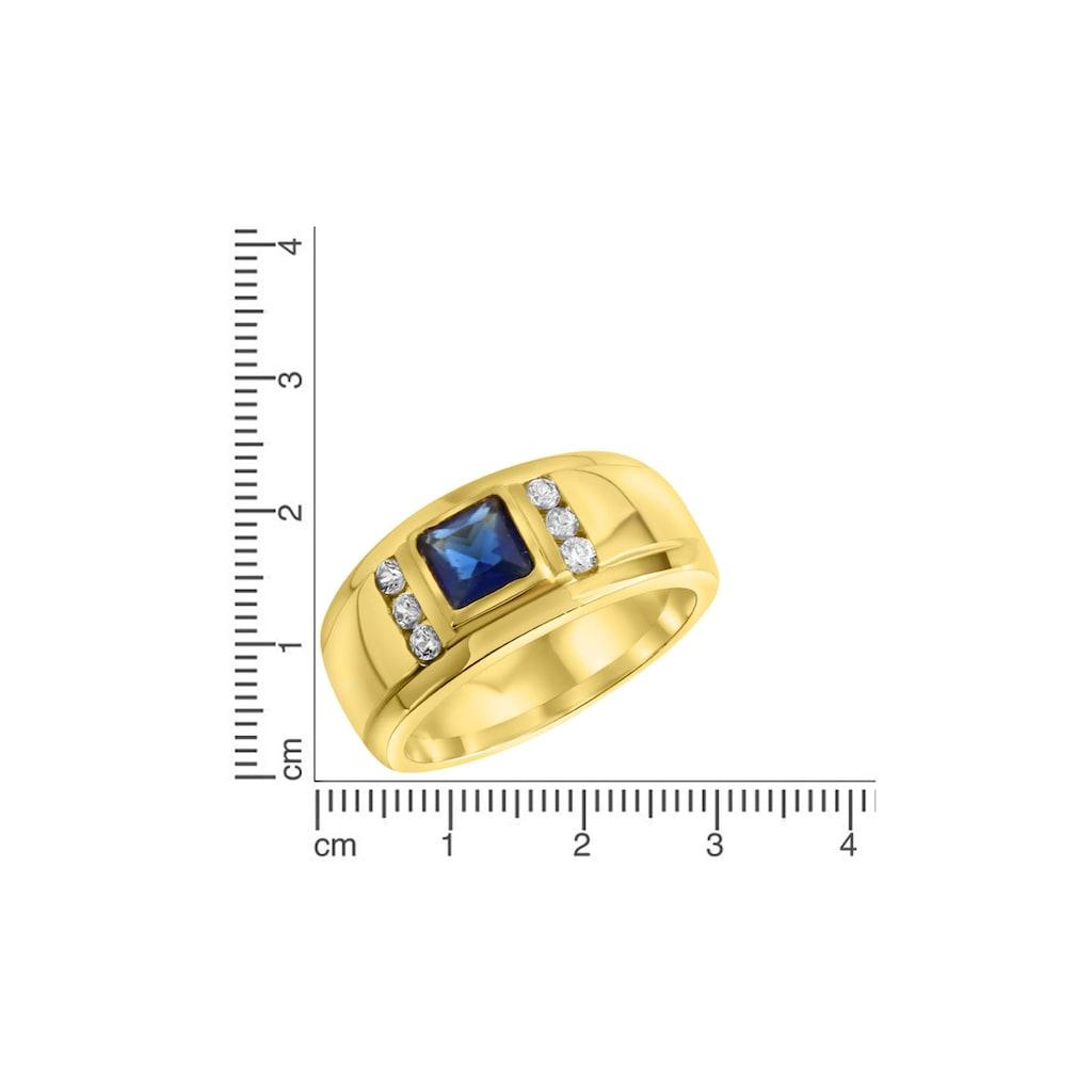 Firetti Fingerring, mit Zirkonia und zentralem Glasstein