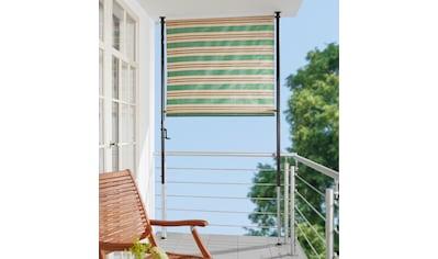 ANGERER FREIZEITMÖBEL Klemm - Senkrechtmarkise »Nr. 1900«, grün/beige/braun, BxH: 150x275 cm kaufen