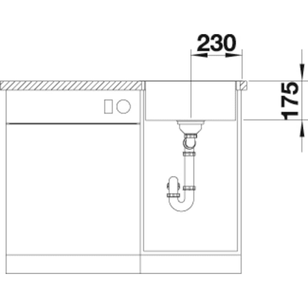 Blanco Küchenspüle »ZEROX 400-IF/A Durinox®«