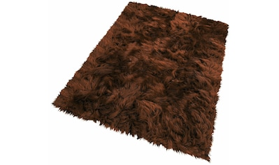 KiNZLER Fellteppich »Pireo«, rechteckig, 70 mm Höhe, synthetischer Flokati, Wohnzimmer kaufen