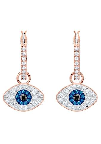 Swarovski Paar Creolen »Duo Evil Eye, mehrfarbig, rosé Vergoldung, 5425857« kaufen