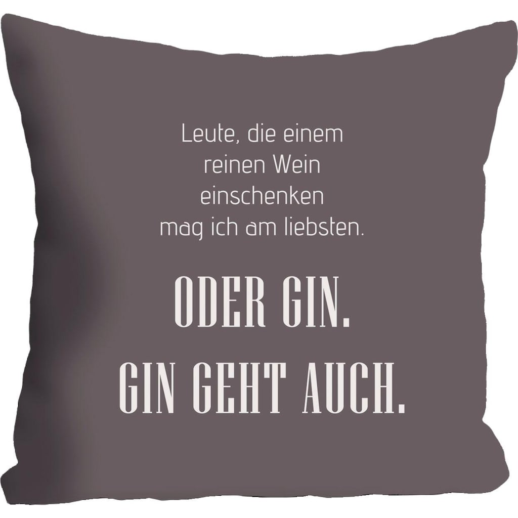 queence Kissenhülle »Wein & Gin«, (1 St.)