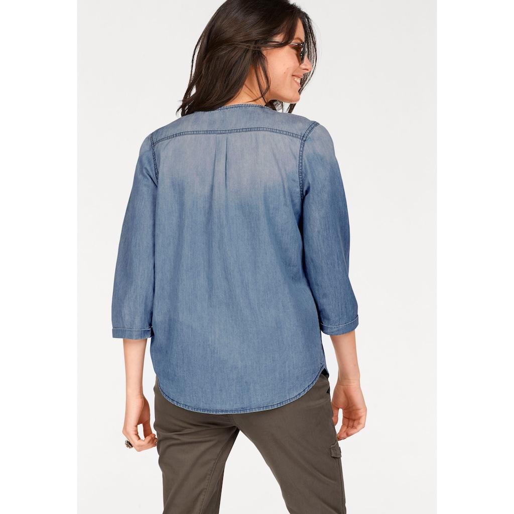Aniston CASUAL Jeansbluse, mit Verzierung
