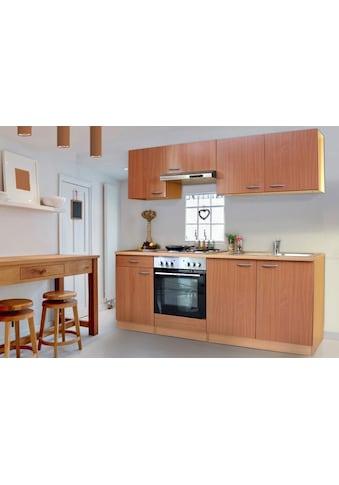 RESPEKTA Küchenzeile »Basic«, mit Edelstahl-Kochmulde, Breite 210 cm kaufen