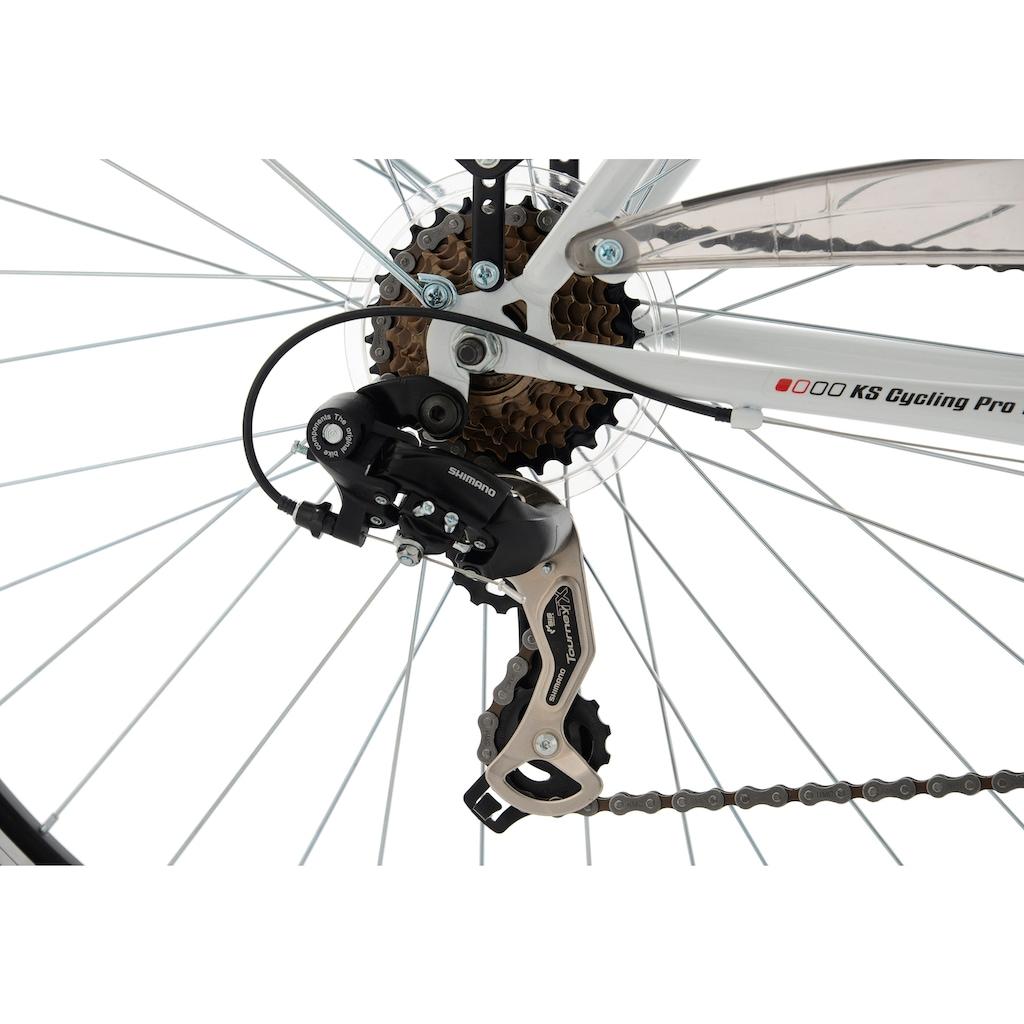 KS Cycling Trekkingrad »Vegas«, 21 Gang Shimano Tourney TX Schaltwerk, Kettenschaltung