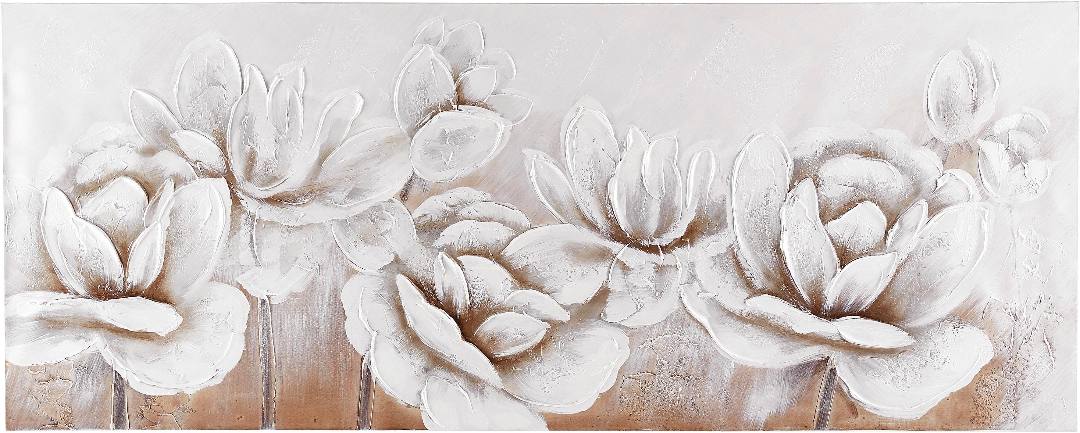 Premium collection by Home affaire Gemälde Flowers Wohnen/Accessoires & Leuchten/Wohnaccessoires/Bilder & Bilderrahmen/Gemälde