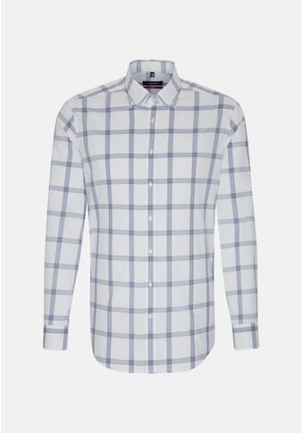 seidensticker Businesshemd »Regular«, Regular Langarm Button-Down-Kragen Karo kaufen