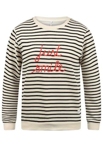 Blendshe Sweatshirt »Daria«, Pullover mit Streifen und Stickerei kaufen