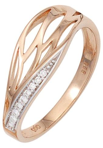 JOBO Diamantring, 585 Roségold mit 8 Diamanten kaufen