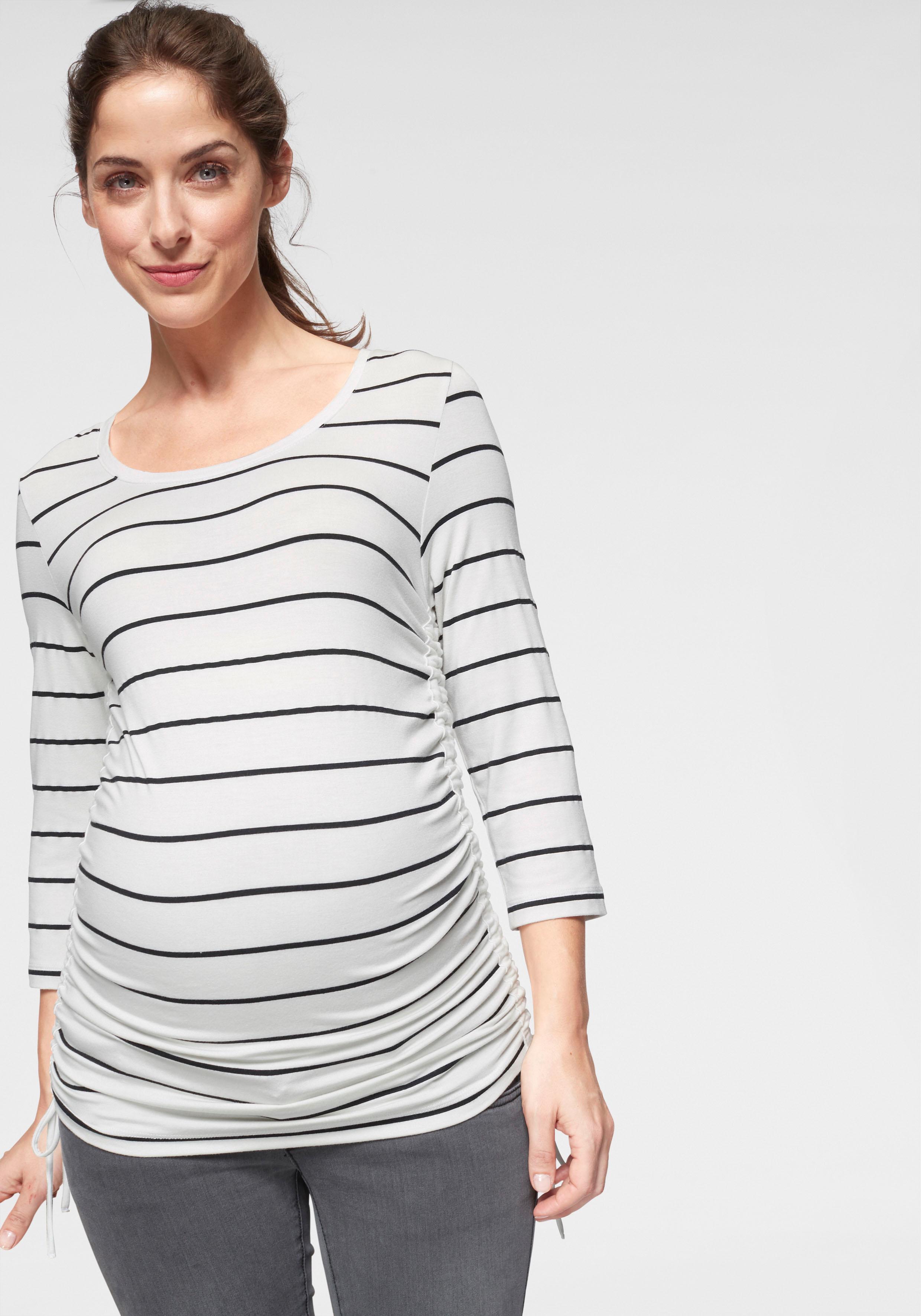 Neun Monate Umstandsshirt Damenmode/Bekleidung/Umstandsmode/Umstandsshirts/Langarmshirts