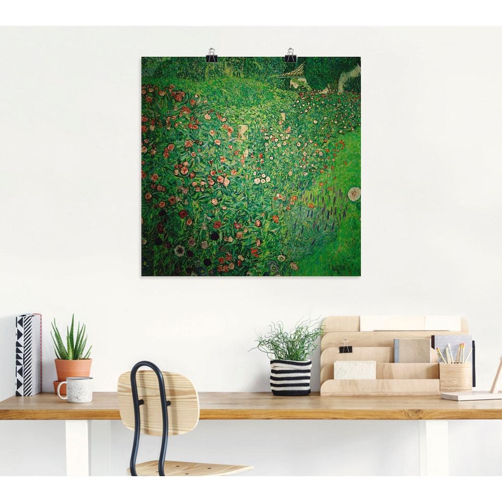 Artland Wandbild »Italienische Gartenlandschaft«, Garten, (1 St.), in vielen Größen & Produktarten -Leinwandbild, Poster, Wandaufkleber / Wandtattoo auch für Badezimmer geeignet