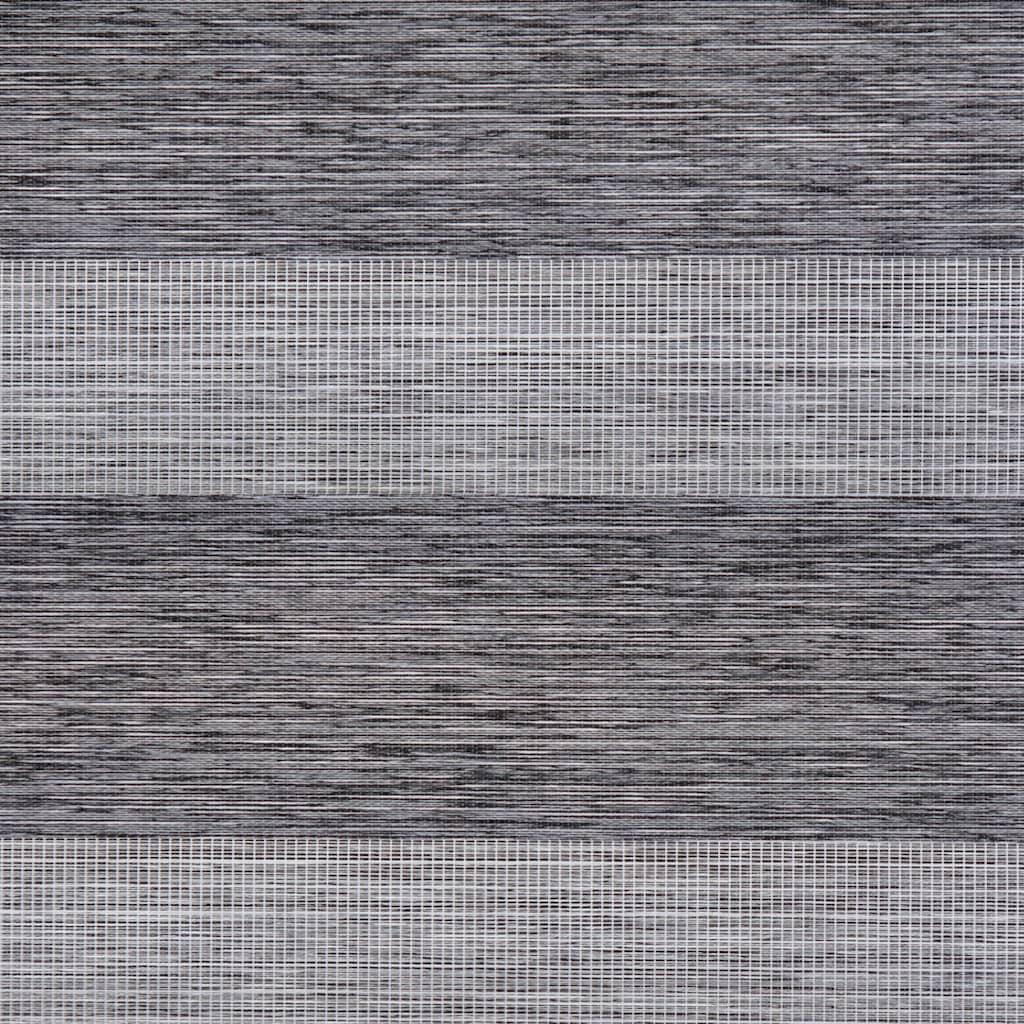 LICHTBLICK Doppelrollo »Duo Rollo Klemmfix, ohne Bohren, meliert, go green«, halbtransparent, freihängend