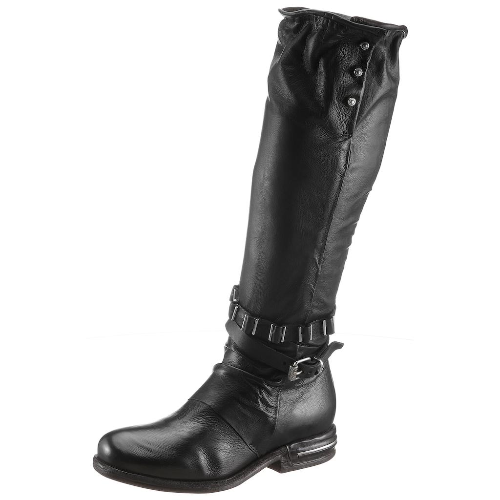 A.S.98 Stiefel »TEAL«, mit Schmuckelementen im Metalliclook