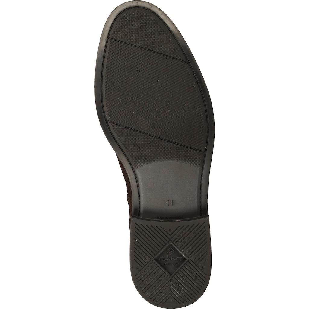 Gant Stiefelette »Nubukleder/Textil«