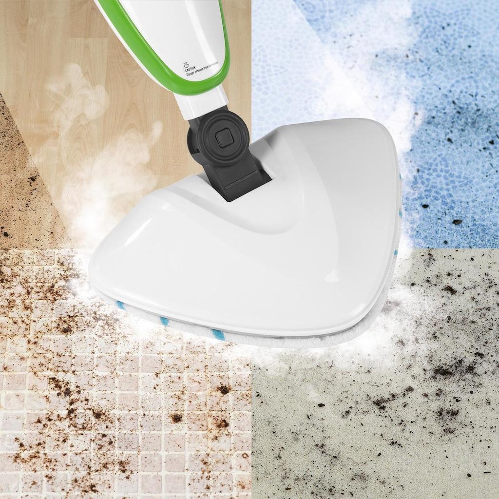 CLEANmaxx Dampfreiniger 5in1 12-tlg. limegreen/weiß, 1500 Watt, beutellos