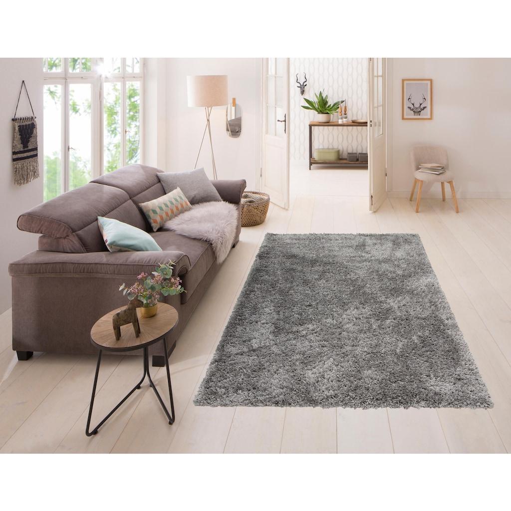 my home Hochflor-Teppich »Boldo«, rechteckig, 50 mm Höhe, besonders weich durch Microfaser, Wohnzimmer