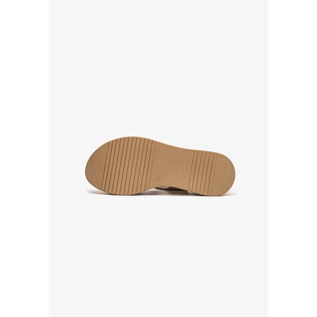 INUOVO Keilsandalette »Leder/Textil«