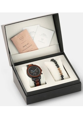 KERBHOLZ Chronograph »Maximilian Rosewood, XMAS - SET« (Set, 2 tlg., mit einem trendigen Holzarmband) kaufen
