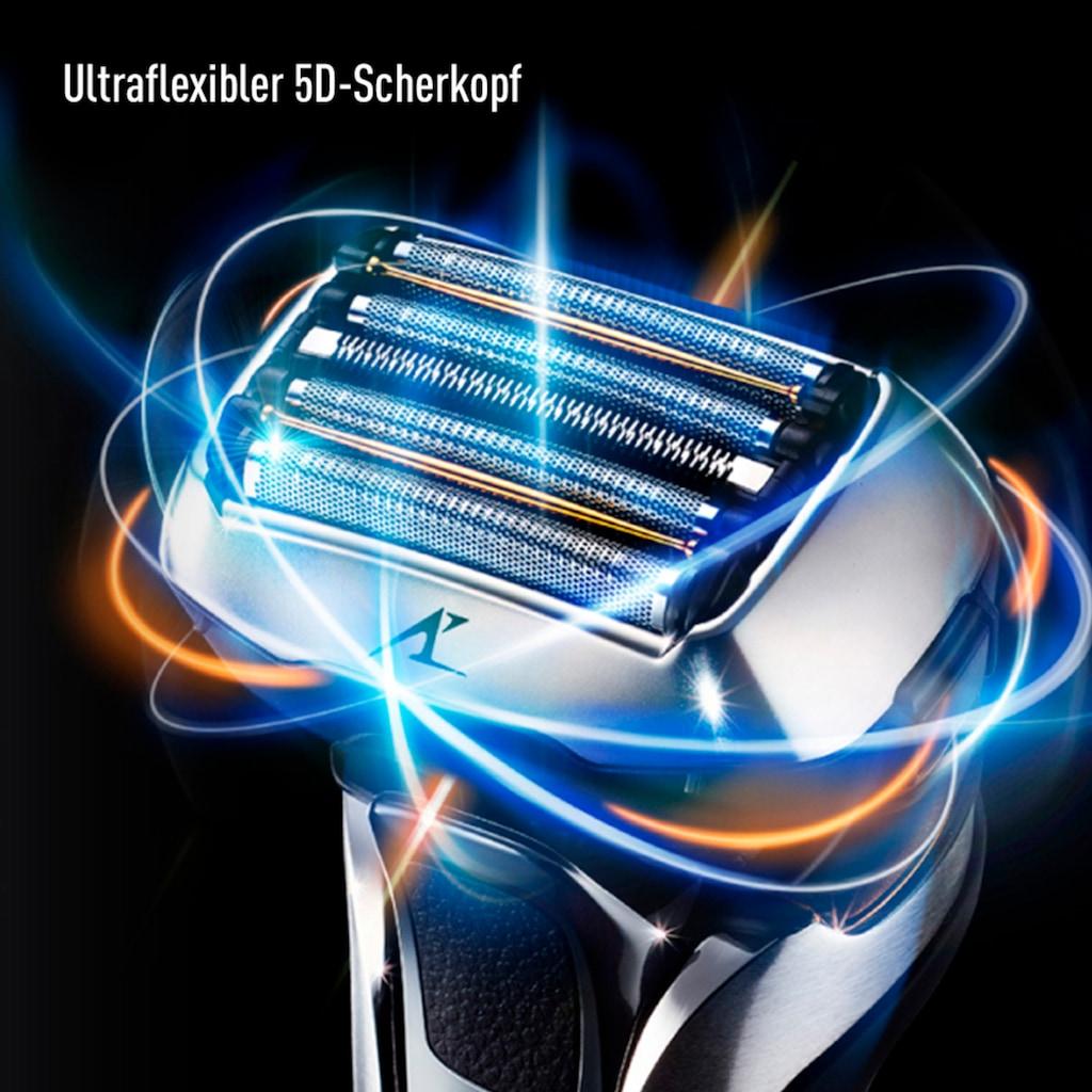 Panasonic Elektrorasierer »ES-LV9Q-S803«, Langhaartrimmer, mit ultraflexiblem 5D-Scherkopf, Nass- und Trockenrasierer mit Reinigungsstation