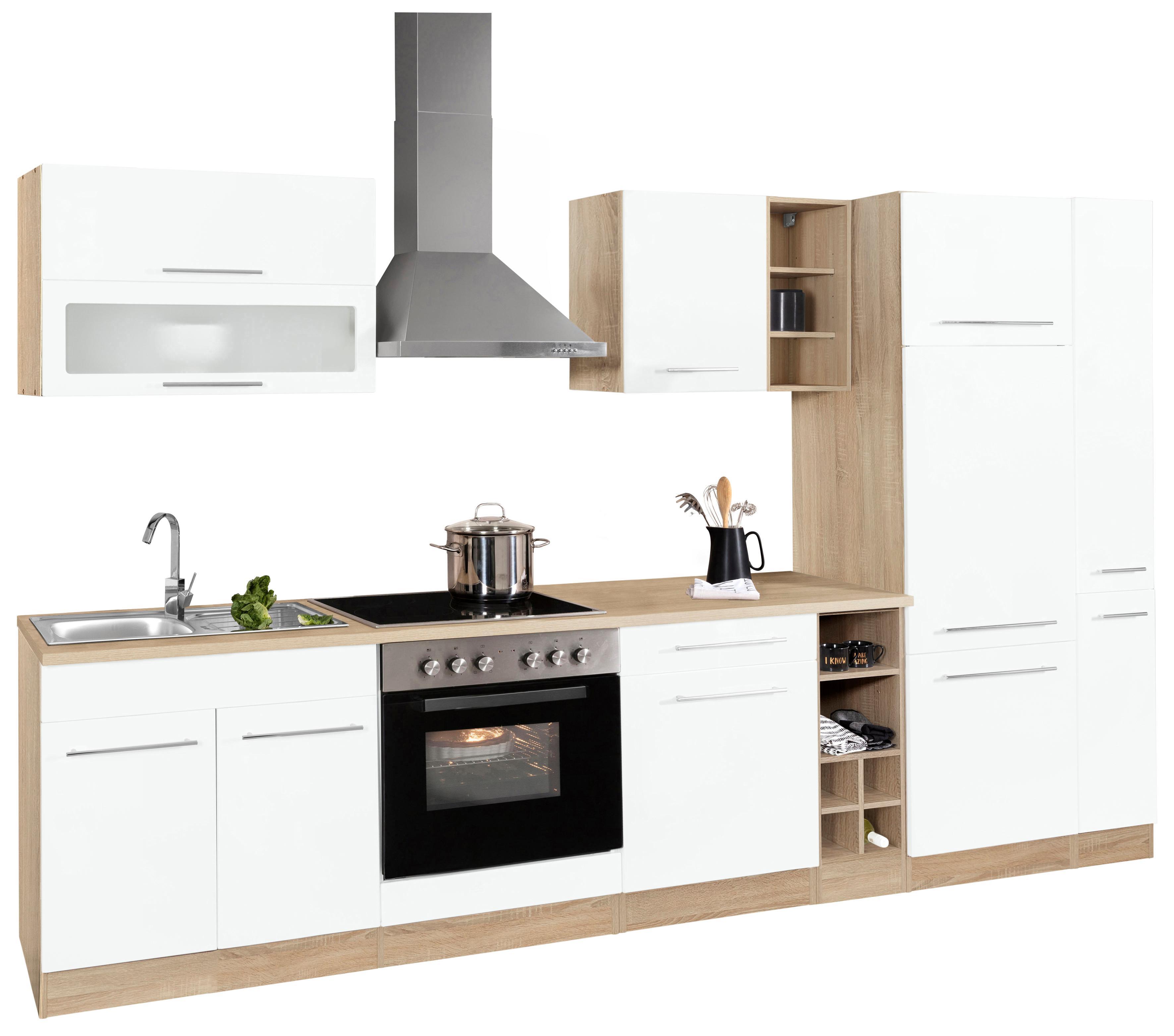 HELD MÖBEL Küchenzeile Eton | Küche und Esszimmer > Küchen > Küchenzeilen | Weiß | Metall | Held Möbel