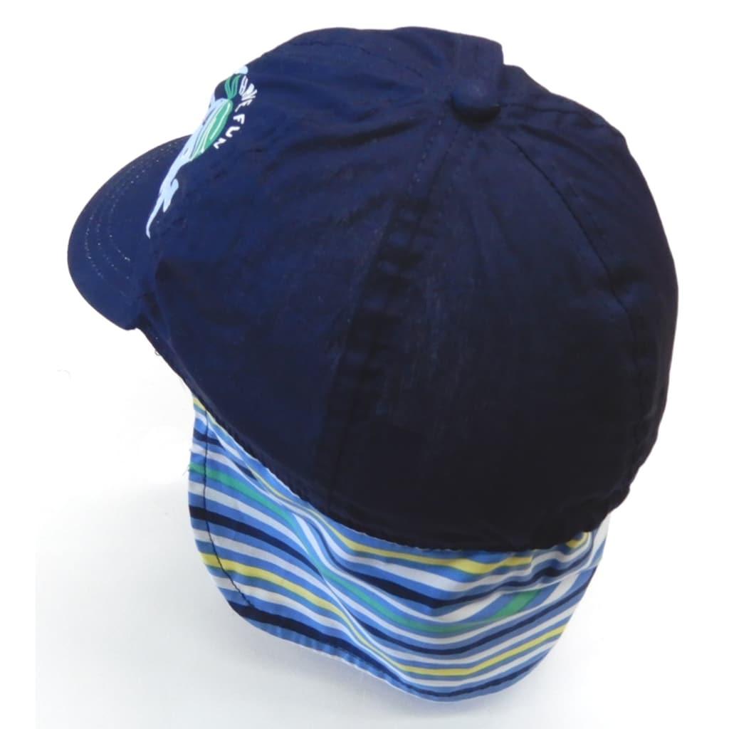 Chaplino Baseball Cap, mit Nackenschutz und Piratentintenfisch-D