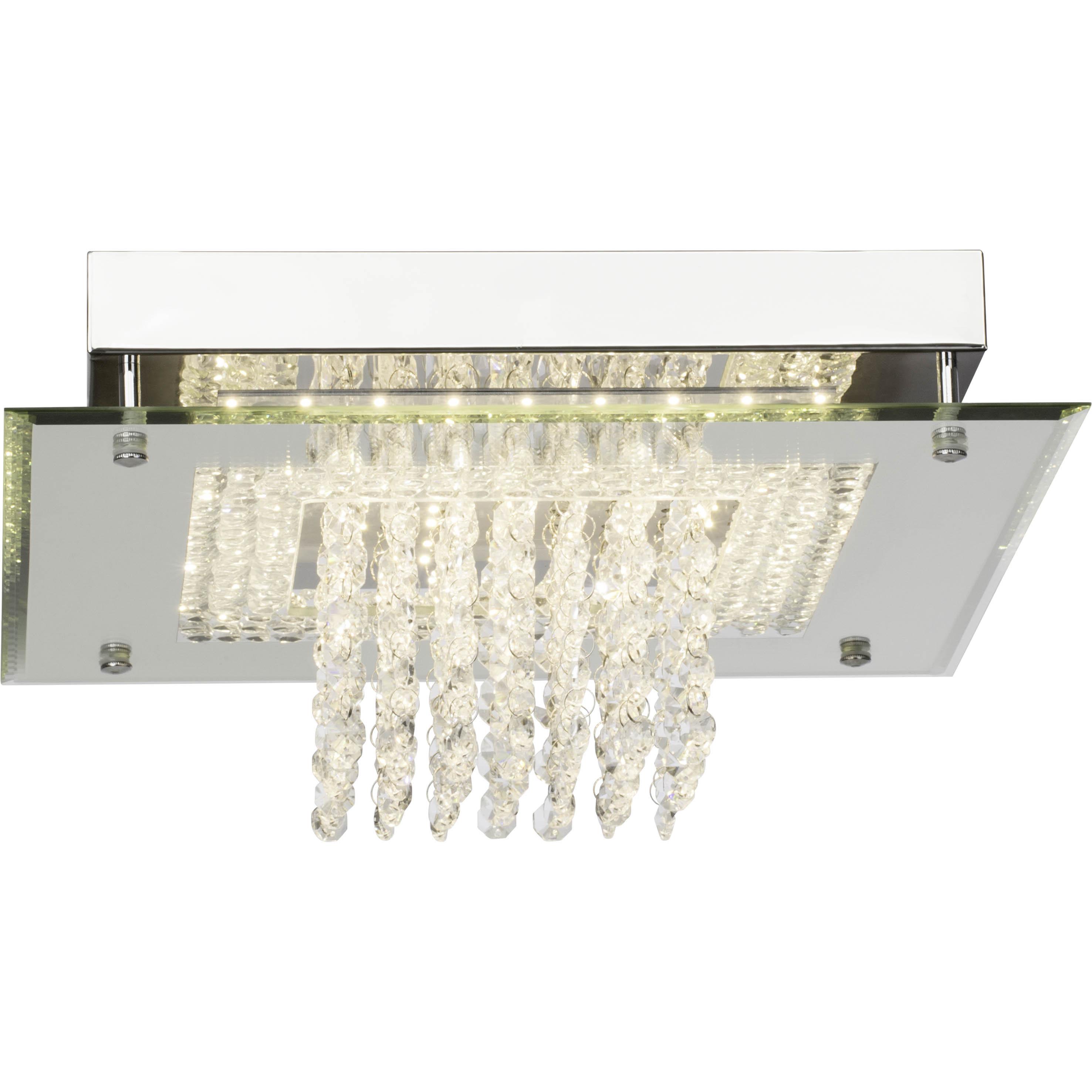 Brilliant Leuchten Glitter LED Deckenleuchte 36x36cm chrom easyDim