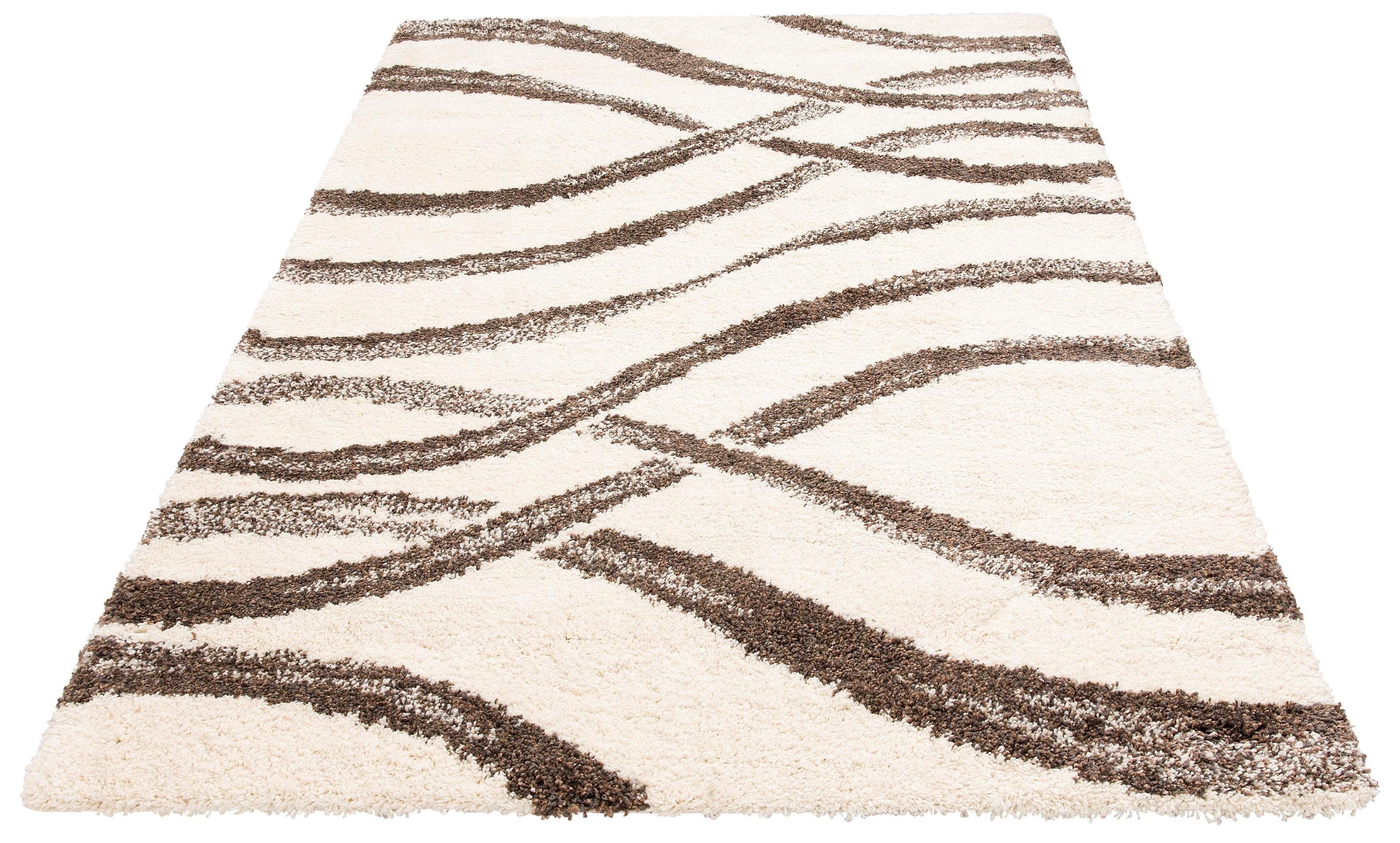 Hochflor-Teppich Sandu my home rechteckig Höhe 40 mm maschinell gewebt