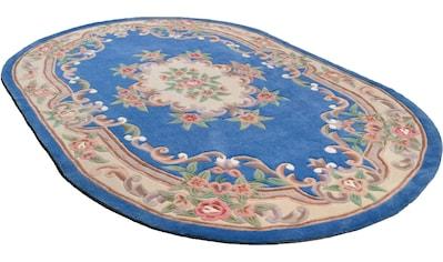 Teppich, »Ming«, THEKO, oval, Höhe 14 mm, handgetuftet kaufen