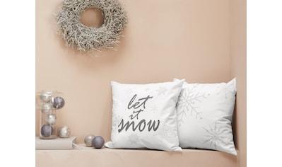 LeGer Home by Lena Gercke Kissenhüllen »Lorna«, (2 St.), mit Schneeflocken und Schriftzug kaufen