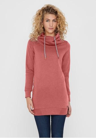 Only Sweatshirt »ONLBETTE L/S LONG HIGHNECK SWT« kaufen