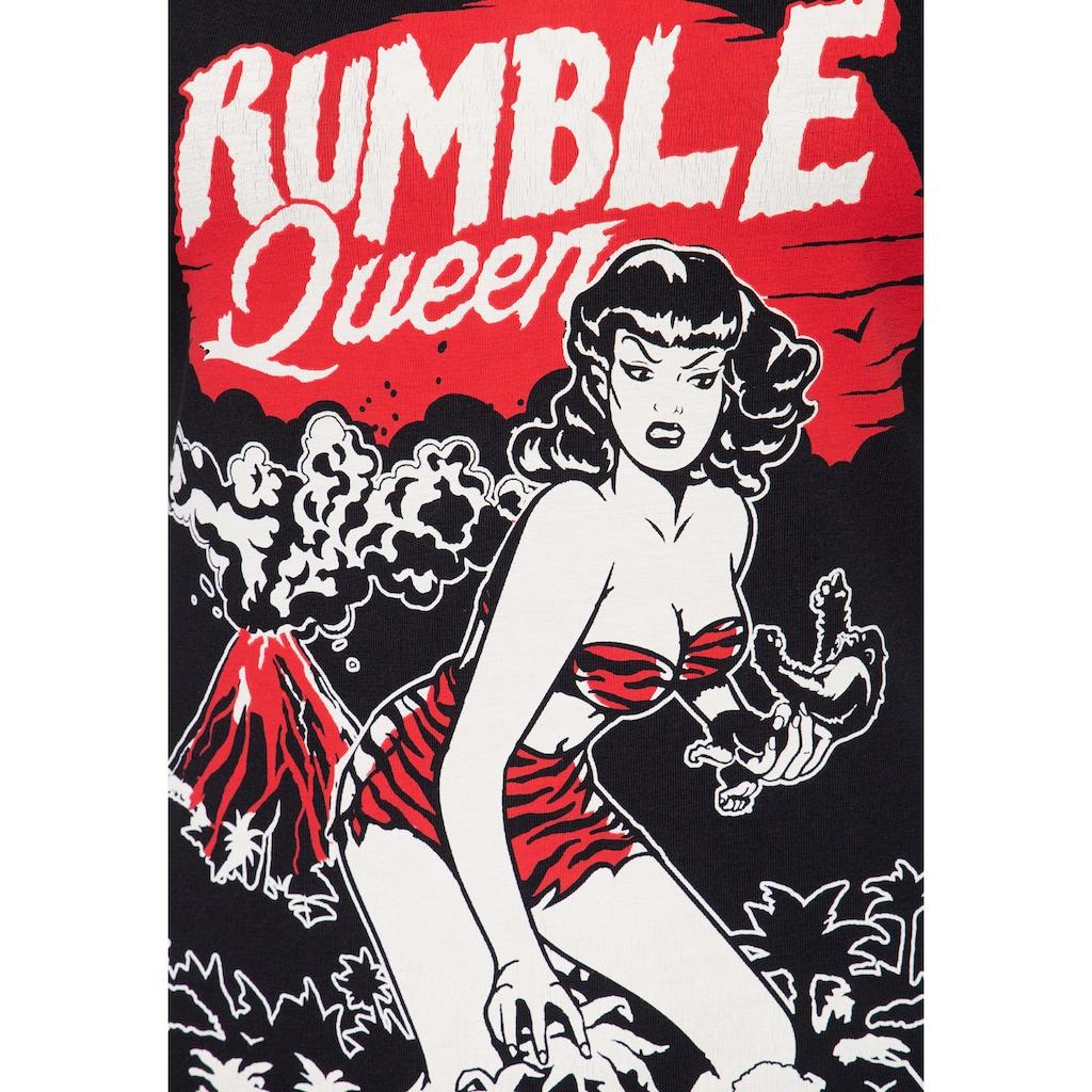 QueenKerosin T-Shirt »Rumble Queen«, im Vintage Look