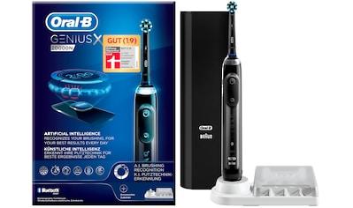 Oral B Elektrische Zahnbürste »Genius X 20000N«, 1 St. Aufsteckbürsten, black kaufen