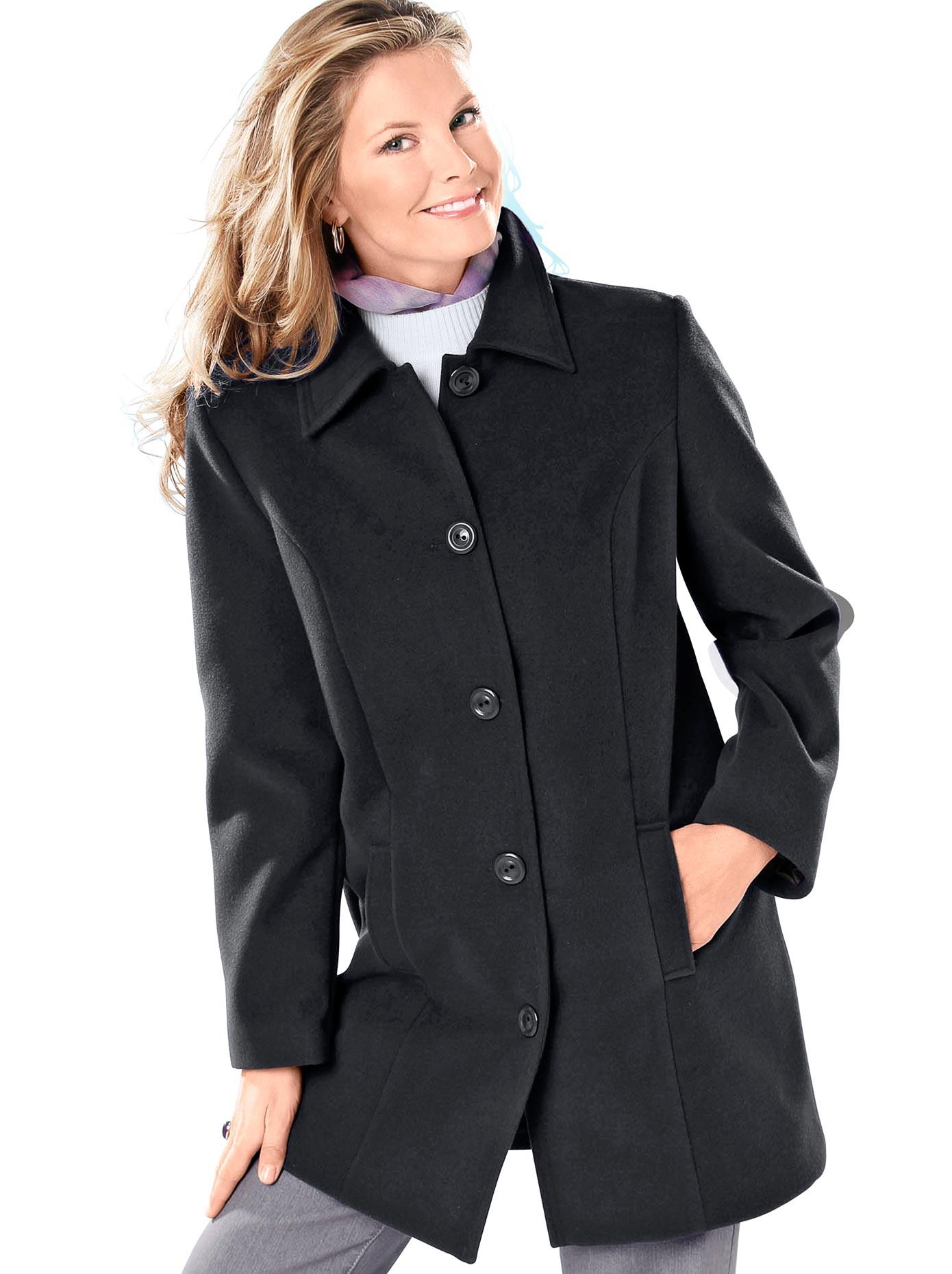 Classic Basics Mantel mit Schulterpolster