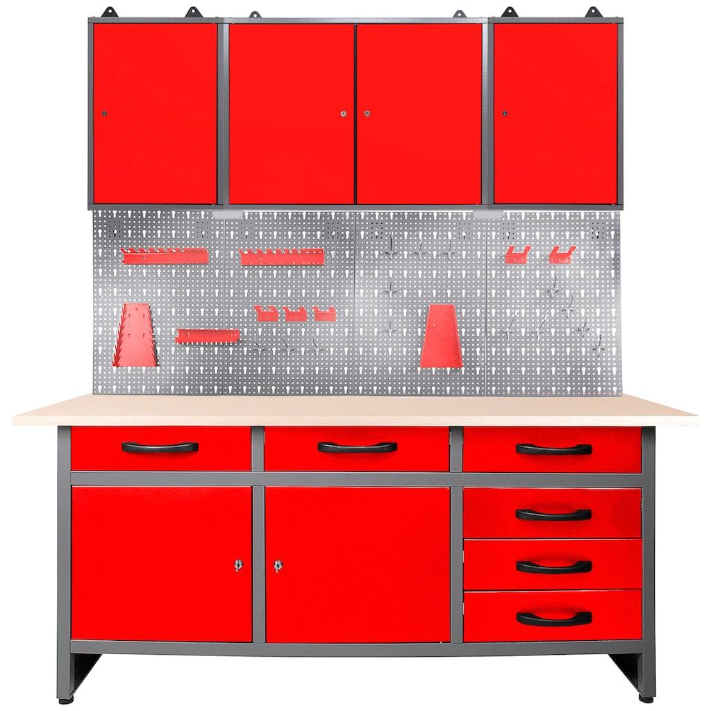 ONDIS24 Werkstatt-Set, 160 cm, mit LED