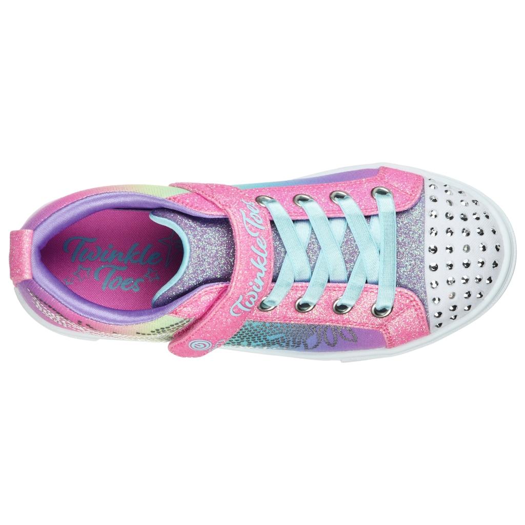 Skechers Kids Sneaker »Blinkschuh TWINKLE SPARKS«, mit blinkender Schuhspitze