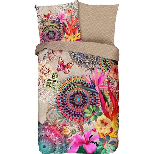 hip Wendebettwäsche »Maelli«, mit Mandalas und exotischen Blüten