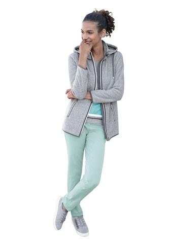 Casual Looks Fleece - Jacke mit kontrastfarbenen Details kaufen
