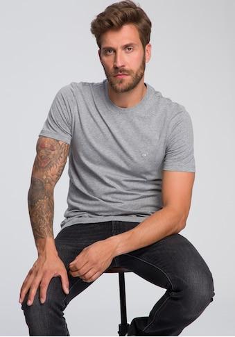 Calvin Klein T-Shirt »COTTON LOGO EMBROIDERY«, kleine ck- Stickerei kaufen
