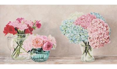 Home affaire Deco-Panel »REMY DELLAL / Fleurs et Vases Blanc«, (100/3/50 cm) kaufen