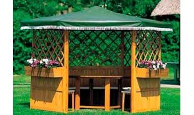 promadino Pavillon »Marburg«, (Set), BxT: 309x309 cm, inkl. Sitzgruppe und Brüstung kaufen